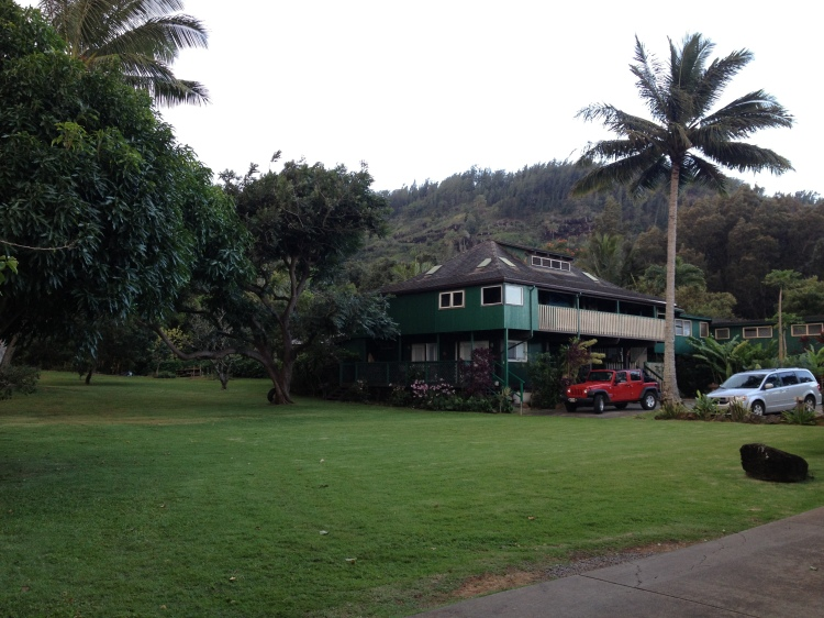The Beautiful Green Property, Rochelle's  home (since sold) on Hawaii's North Shore Where I Stayed for 10 days