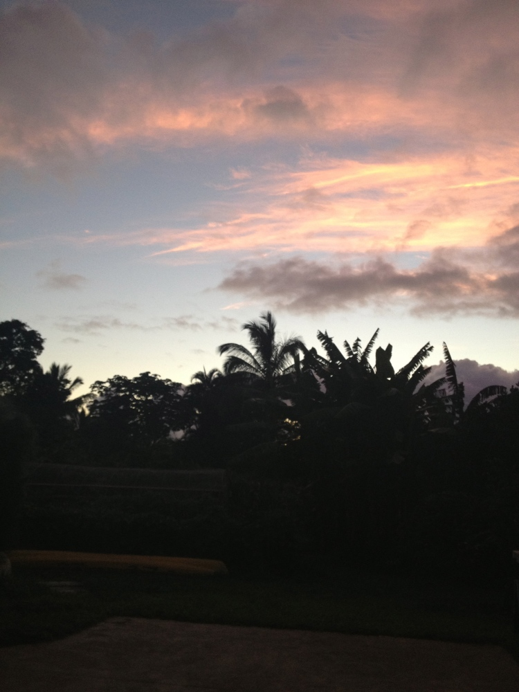 Hanalei sunsets were spectacular every night.