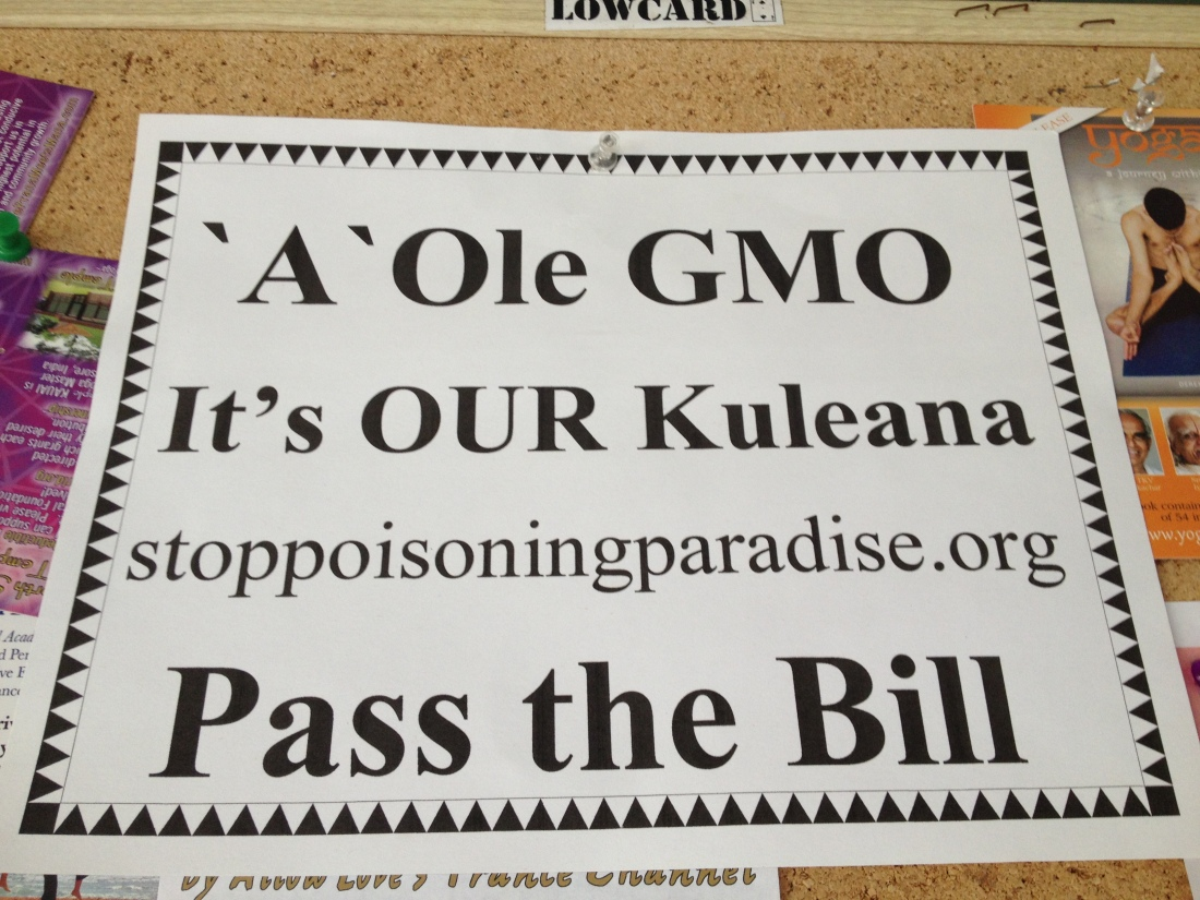 The GMO controversy came up a lot during my time on Kauai - a heated local and global debate.