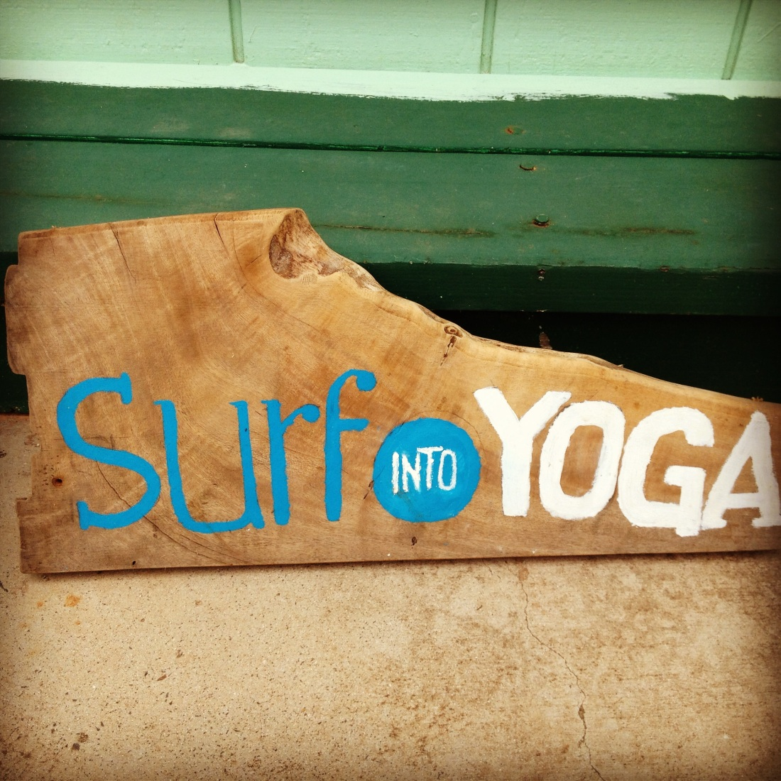 The original SIY sign finds a new home in Kauai.