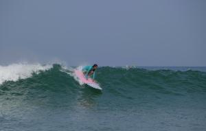 Malaviya catches a wave.